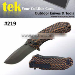 Half serrated blade assisted opening g10 tactical pocket knife