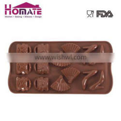 Bag fan chocolate mould for cake decoration