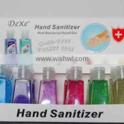 pocket waterless antibacterial hand cleaning gel / private label liquid hand sanitizer with key ring