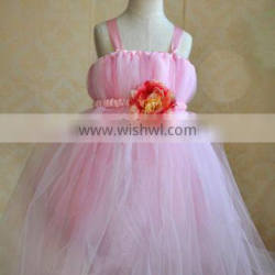 Satin Tulle Ball Gown lace Flower Girl Dress patterns Custom Maded