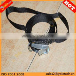 TUV/GS approved 25 mm Zinc buckle ratchet lashing/polyester packing strap