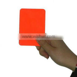 Warning Card including one red card and one yellow card
