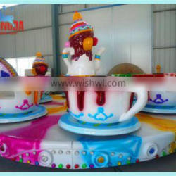 Popular attractive family rides amusement equipment coffee cup rides
