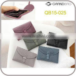 Ladies RFID blocking embossed python leather wallet purse for women with flap