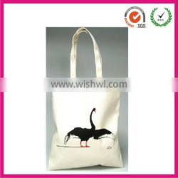 Top quality red-crowned crane printing durable cotton shopping bag(factory)