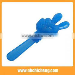 Football Fans Plastic Cheering Products Fans Cheer Printed Plastic Hand Clappers Cheering Hand Clapper