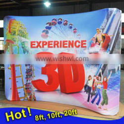 10ft Curve Shape Tension Fabric Trade Show Display Booth