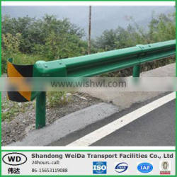 Green painted Highway Guard rail price