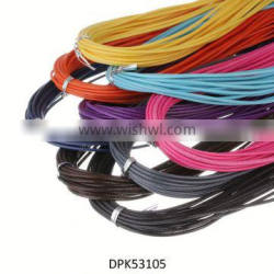 """18"""" Mixed Color Imitation Suede Leather Cord Necklace with Lobster Clasps"""