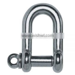 Stainless steel screw pin bow D shackle