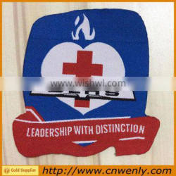 Garment canvas fabric woven badges for schools