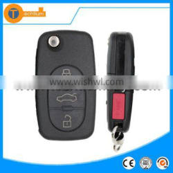 Original 4D0 837 231G 315 Mhz car key with ID48 chip and blade 3+1 button flip key for Audi A4 A6 A8 S4 S8