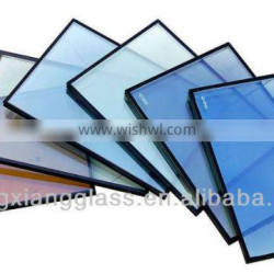 3-12mm dark blue reflective glass coated glass with 3C & ISO etc. certificate