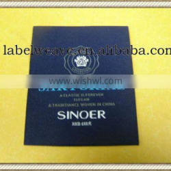 brand name men's collection garment label