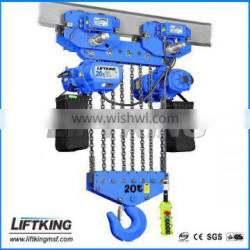25t dual speed electric chain hoist with ten chains