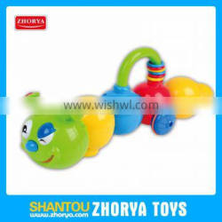 baby shaking bell plastic worm battery operated walking toy