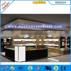 Shopping Mall kiosk for Store Wooden Shoe display cabinet