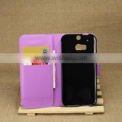 Good quality top sell for htc one m8 case leather flip cover