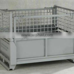 Stackable wire mesh crate folding steel box/bin/container