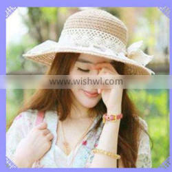 2014 beautiful summer straw hat for girls