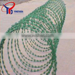 hot dipped galvanized spiral razor barb wire