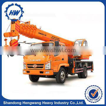 10 Ton Lorry Mounted Crane With Lifting Height 30 Meter