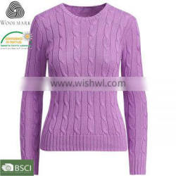 Custom design wool women pullover sweater