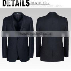 2015 high quality men's business suit with 100% wool stripe fabric office uniform design for men