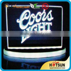 high tranparent colorful outdoor acrylic bar led sign