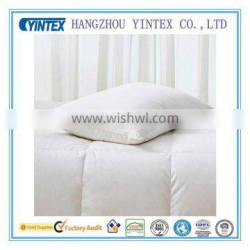 White duck feather down filling 100% cotton down pillow