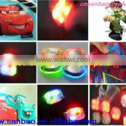 blinking glitter kids shoes lights for garments bags caps for christmas accessories