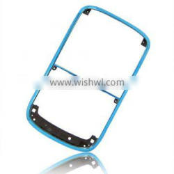 For 100% brand new Blackberry BOLD 9000 chrome-bezel/front cover with silver side button and silver clip (Purple color)