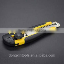 high quality ABS + rubber handle utility knife