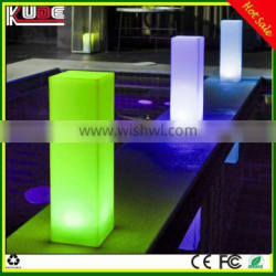led light columes for wedding party/square led columns