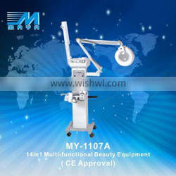 MY-1107A 14in1 Multifunctional Beauty Equipment/ ultrasonic galvanic high freequency beauty machine (CE Approval)