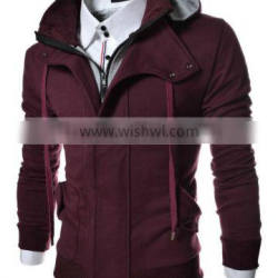 Mens Hoodies Hot Sale Customized Polyester Zipper Hoody