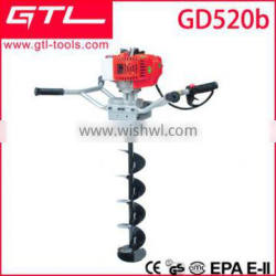 ground drilling machine gasoline earth auger with ice auger bit GD520B