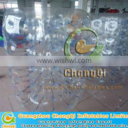 Transparent inflatable water roller ball price in China