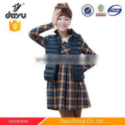 stock women vest Casual quilting waistcoat woman padded vest outdoor down wadded stand collar jacket sleeveless winter vest
