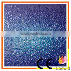 high quality fibreglass reinforced plastic pebbly decorative paper for huose roof and wall