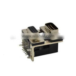 Professional Manufacturer of Dual Port D-SUB DR 9P Male to HDR 15P Female Connector