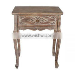 Distressed Wooden Table Wooden Decorative Table for Living Room Vintage Wooden Table