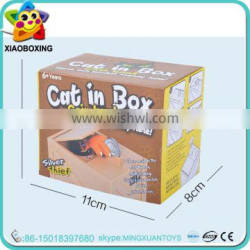 Promotion gift plastic cat hand stealing money box coin bank for kids