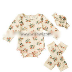 2017 handmade cheaper baby long sleeve badysuit onesie /baby romper clothes / baby spring slothes