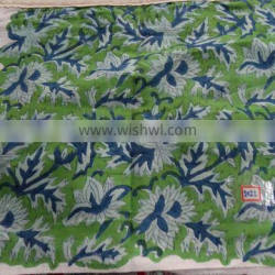 Buy Hand block printed indian cotton fabric in wholesale discount