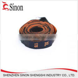 custom fashion care size label roll embroidery jeans label for pants