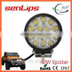 5inch 42W Epistar led work light top quanlity car lights for 4X4 ATV Jeep motorcycle