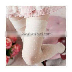 New Design Promotion Exclusive Sexy Sweetheart Cute Lace Bow Jacquard With Dots Heart Christmas Sheer Tattoo Women Stocking
