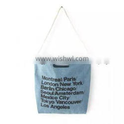 #4solid color montage cotton cotton bag all over the world