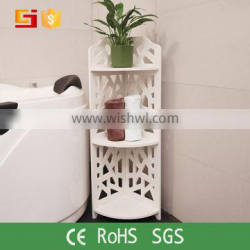 Decorative 3 tiers expensive office furniture white storage rack